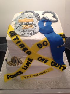 Police retirement cake. #getcakedbystacy Custom by Stacy G.