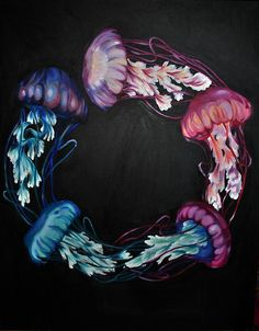 Beautiful jellyfish art