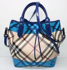 Blue Burberry bag