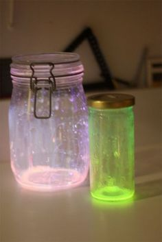 Awesomely Fun Glow Jars. I think these would be super cute in old baby food jars :)