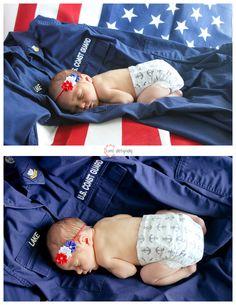 coast guard newborn baby session!