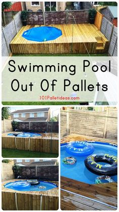 Swimming Pool Out Of Pallets - DIY