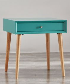 Look at this Marine Green One-Drawer End Table on #zulily today!