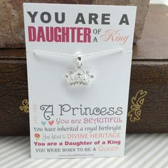Daughter of a King Necklace  Crown Necklace Crown by doodlebead, $12.99