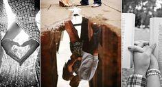Confira inspirações para deixar suas fotos de casal mais criativas, românticas, bonitas e únicas. As imagens são do site Pinterest.Leia também:25 truques que te deixarão mais fotogênicaComo sair bem em fotos usando 5 truques de make6 dicas para sair bem na selfie