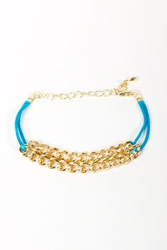 blue! Gold Chain Bracelet
