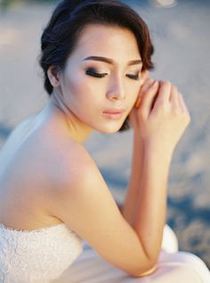 Love this bridal look - smokey eyes and defined eyebrows! | Bramanta Wijaya Sposa's Spring/Summer 2015 Bridal Collection: Catalyst + Oblivion