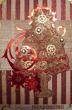steampunk xmas tree by ms art