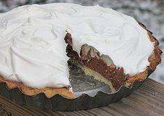 Copycat Baker's Square French Silk Pie. This is the most heavenly pie recipe ever. This chocolate pie is a must-make.