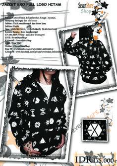 jaket exo full logo hitam