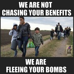 The shameful irony of refusing to provide shelter to the very people you bomb.