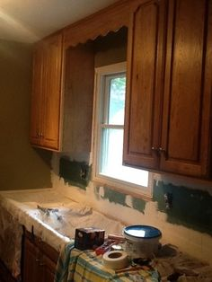We Are Updating Our Kitchen...putting In Granite, Removed 90s White Tile