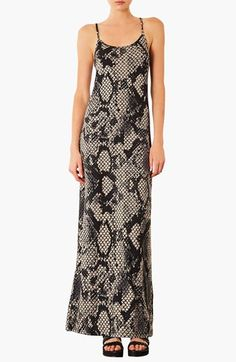 Topshop Snake Print Maxi Dress available at #Nordstrom