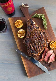 Italian Style Grilled Rib Eye Steak FoodBlogs.com