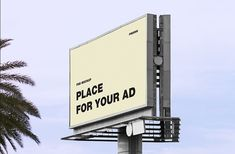 Realistic Billboard Mockup which you can use freely to showcase your next advertisement project. Select the smart object layer in the psd mockup and insert your design into it. Billboard Mockup, Billboard Design, Mockup Templates, Grafik Design, Advertising, Meet, Signs, Reading, Books