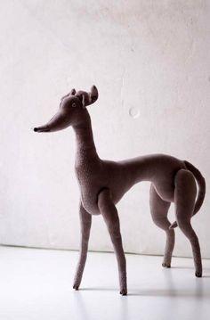Dog/greyhound  soft sculpture. by adatine on Etsy, $42.00