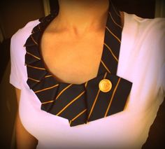 Necktie Necklace - Simply fold and sew to make this shirt embellishment