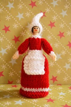 Christmas Doll Knitting Pattern/ Toy Knitting by EdithGraceDesigns