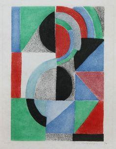 "Delaunay Sonia ""Avec Moi - Meme Pl. 6""  (1970) acquaforte cm. 50 x 40"