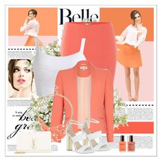 """""""orange"""" by bea2794 on Polyvore featuring moda, Lipsy, Damsel in a Dress, BP., Carvela, Yves Saint Laurent y New Growth Designs"""