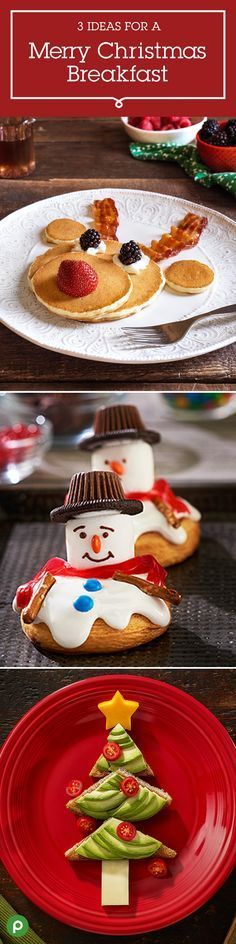 Here are three Christmas morning traditions to start with your family. The kids will love putting the finishing touches on Reindeer Pancakes and Christmas Tree Toast. And who can resist these sweet little Melting Snowman Cinnamon Rolls? Get these Publix recipes for a Merry Christmas Breakfast tradition.