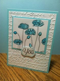 Card Kit 4 Stampin Up Pleasant Poppies Watercolor All Occasion Embossed   eBay