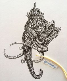 A Cambodian Artist's Intricate Ink Cambodian Tattoo, Cambodian Art, Khmer Tattoo, Thai Tattoo, Body Art Tattoos, Sleeve Tattoos, Krishna Tattoo, Thai Pattern, Thailand Art