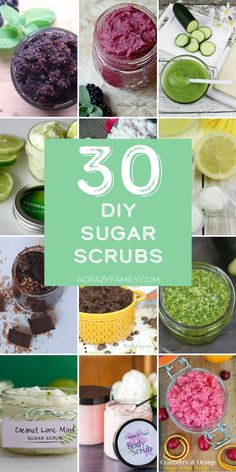 If you love to make your own sugar scrubs at home check out this super fun list of 30 scrubs that you are sure to love! Homemade Body Butter, Sugar Scrub Homemade, Selling Crafts Online, Fun List, Sugar Scrubs, Craft Sale, Body Scrub, Household Tips, Soap Making
