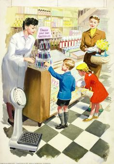 Toothbrush - Shopping with Mother - Ladybird Books 1958
