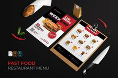 Fast Food | Restaurant Menu #menu #food #cafe #vector #template #restaurant #design #illustration #coffee #dessert Fast Food Restaurant, Great Restaurants, Menu Restaurant, Restaurant Design, Fast Food Menu, Restaurant Menu Template, Journal Cards, Design Bundles, School Design