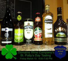 St Pattys day Celebration tasting at Domaine Wine Company Fine Wine Dallas