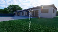 4 Bedroom House Plan – My Building Plans South Africa Split Level House Plans, Square House Plans, Metal House Plans, Free House Plans, 4 Bedroom House Plans, Family House Plans, My Building, Building Plans, House Plans South Africa