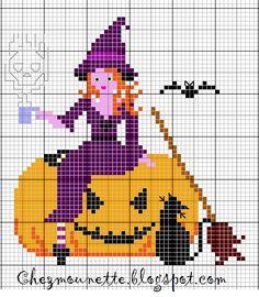 Un moment de repos pour cette petite sorcière avant le grand bal des sorciers du 1 novembre. Petite broderie qui s'inscrit dans un ...