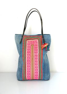 hmong bag hmong shopper upcycled bag lao bag hmong by fairlyworn
