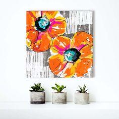 Bright Orange Poppies art by Linda Woods
