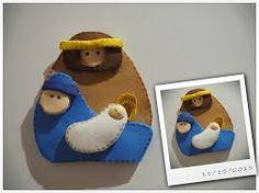 Resultado de imagen de nacimiento navideño en fieltro