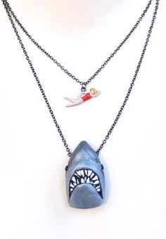 Jaws+Necklace+by+RedDingoDesigns+on+Etsy