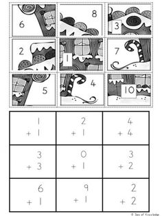 The ultimate engaging math game? Use these Free Christmas Math Puzzles that feature gingerbread men! Fun puzzles with 'mystery pictures'! Hands On Activities, Activities For Kids, Math School, Christmas Math, Maths Puzzles, Free Math, Math For Kids, Learning Resources, Math Games