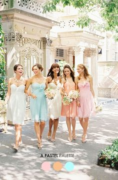 The Perfect Palette: 5 Mix N' Match Bridesmaid Looks You'll Love!