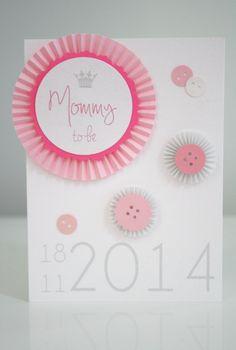 DIY: Kortti tulevalle äidille babyshowereihin / Babyshower card for a mommy-to-be