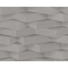 AS CREATION 3D EFFECT WOOD BLOCK PATTERN STRIPE MOTIF NON WOVEN WALLPAPER 960003 in | eBay