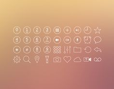 Download 50 iOS7 Styled Vector Icons & Buttons