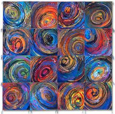 """Sue Benner, """"Nest"""" Series... Artistic Quilts, draws the Viewer in, a feeling of Space, the Cosmos, Beginnings..."""