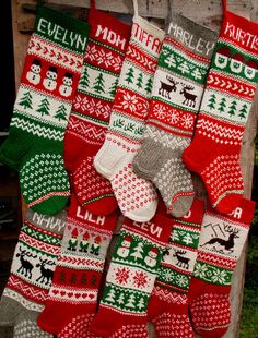 FOR 2020 Knit Christmas Stockings 24 or 26 Knitted Christmas Stocking Patterns, Knitted Christmas Stockings, Diy Stockings, Family Christmas Stockings, Christmas Deer, Christmas 2019, Merry Christmas, Christmas Gifts, Christmas Decorations