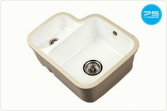 Welcome to The 1810 Company. ETRODUO C from the Etro range, which have a curved classic design Ceramic Kitchen Sinks, Ceramic Bowls, Solid Surface Worktops, Plumbing, Ceramics, Worktops Uk, Taps, Attraction, Kitchen Ideas