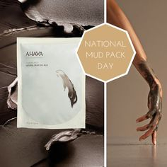 Happy National Mud Pack Day! Are you getting muddy tonight? #ahava #deadsea #deadseamud #nationalmudpackday #getmuddy #mudmask Dead Sea Mud, Body Care, Sensitive Skin, Poster, Bath And Body, Billboard