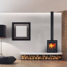 Image result for WOOD burning freestanding fireplace