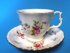 Vintage Tea Cup and Saucer   Royal Albert by MidnightandMagnolias, $20.00