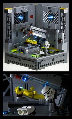 Tanning on the Death Star. Star Wars Lego