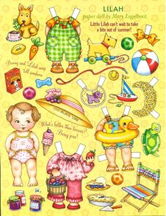 Paper Doll by Mary Engelbreit Summer Fun with Lilah